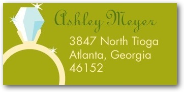 Personalized address labels, Nice Ring