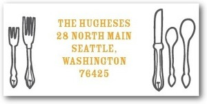 photo of Personalized address labels, Dinner Party Diagram