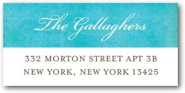 Personalized address labels, Beach Towel