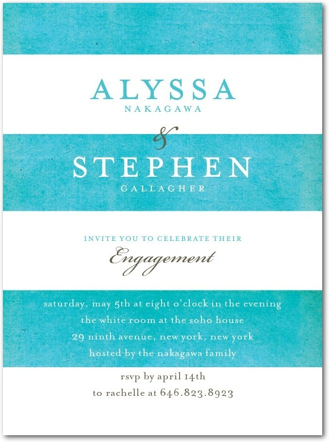 photo of Signature white textured engagement party invitations, Beach Towel