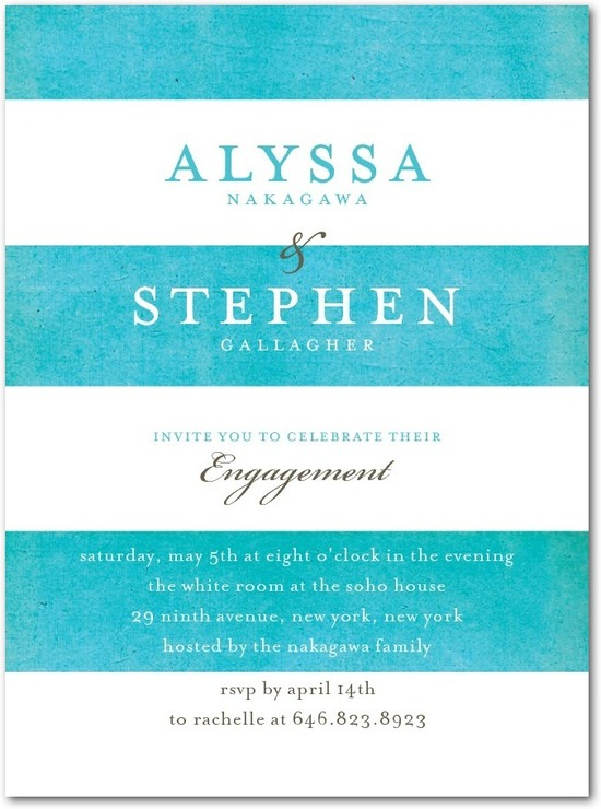 Signature white textured engagement party invitations, Beach Towel
