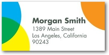 Personalized address labels, Proposal Confetti