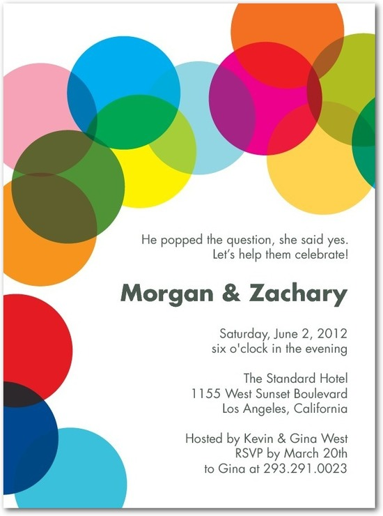 Signature white textured engagement party invitations, Proposal Confetti