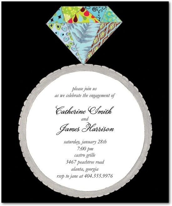 Studio basics: engagement party invitations, Patchwork Diamond