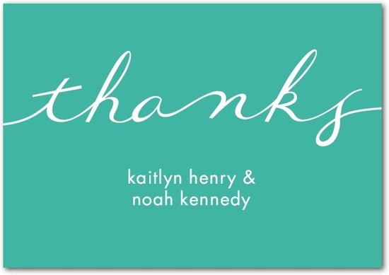 Signature white thank you cards, Perfect Knot