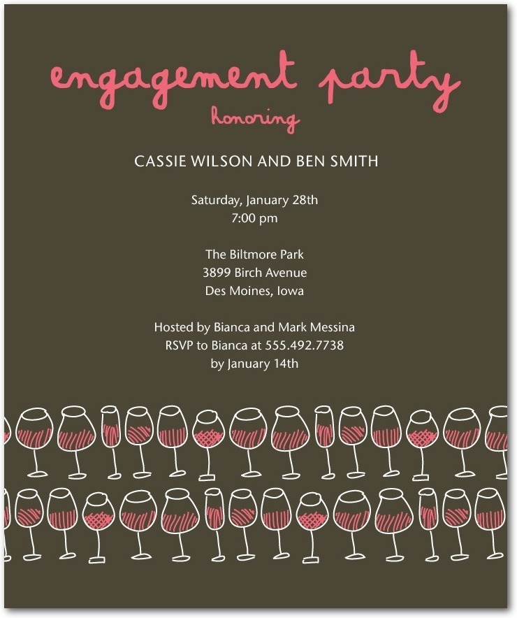 Studio basics: engagement party invitations, Glasses Galore