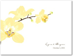 photo of Wedding response postcards, Artistic Orchids