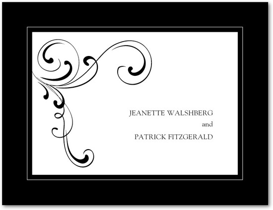 Wedding response postcards, Simple Elegance