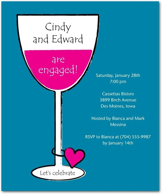 Studio basics: engagement party invitations, Wine Charm