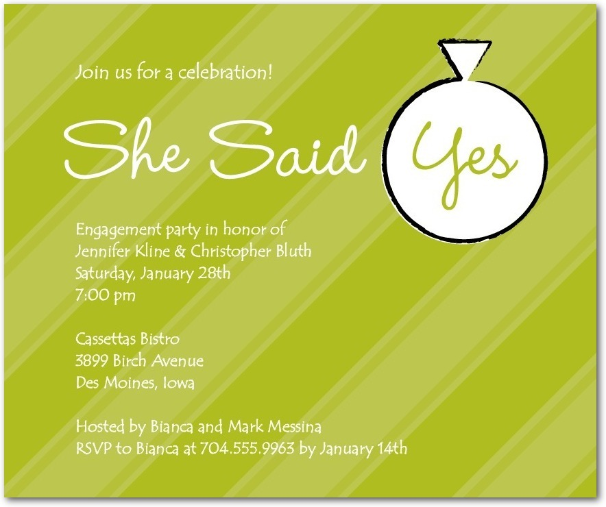 Studio basics: engagement party invitations, Celebrate Yes