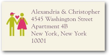 Personalized address labels, Boy Meets Girl