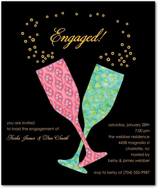Studio basics: engagement party invitations, Patterned Glasses