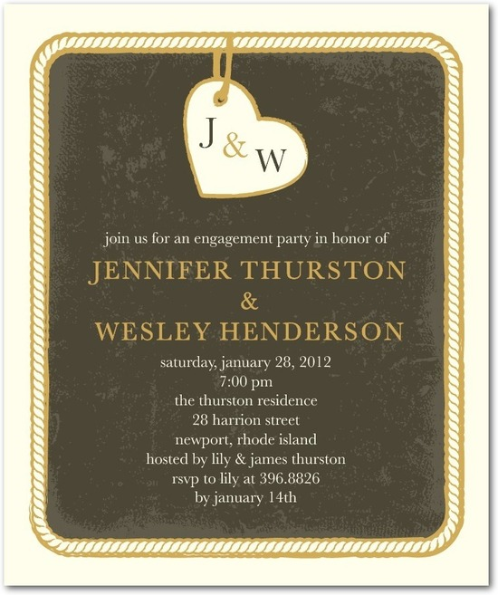 Studio basics: engagement party invitations, Dangling Charm