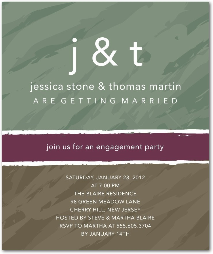photo of Studio basics: engagement party invitations, Monogram Mix