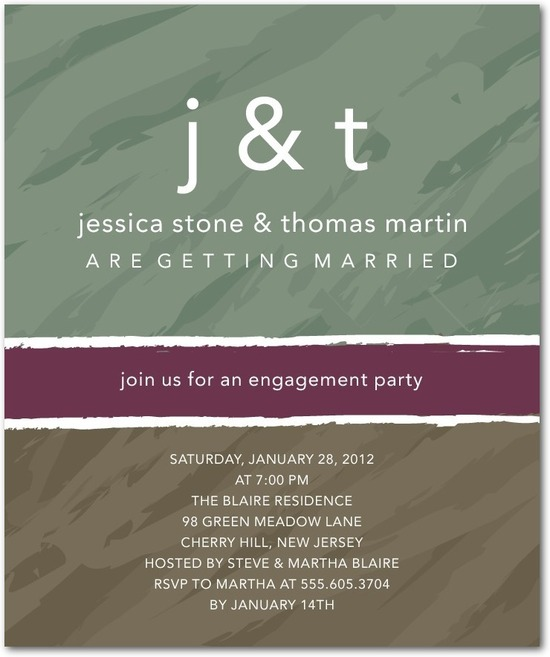 photo of Studio basics: engagement party invitations, Monogram Mix