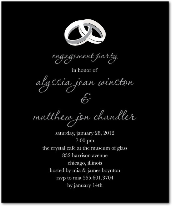 Studio basics: engagement party invitations, Ring Ready