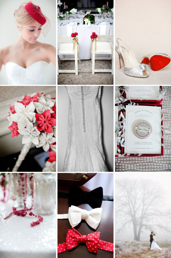 Red and Silver Wedding Color Inspiration