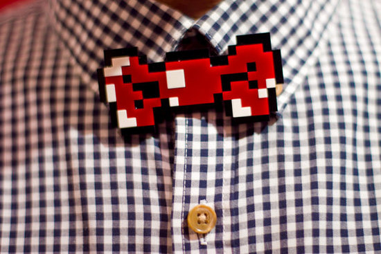 photo of 8-bit Bow Tie via Etsy seller CleverTrever