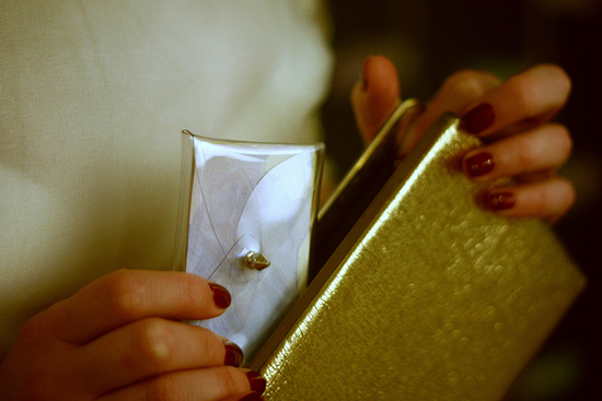 DIY Bridal Clutch Gold