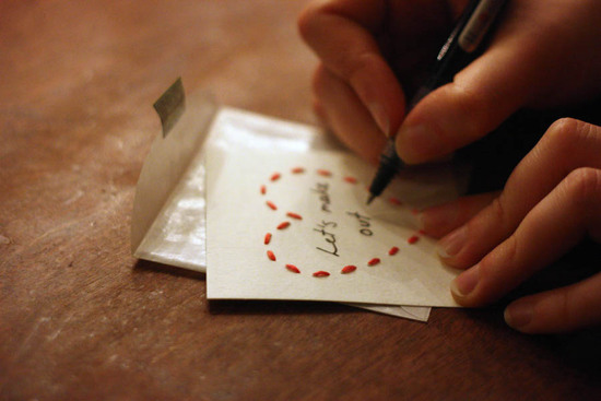 Handmade Love Notes for the Groom