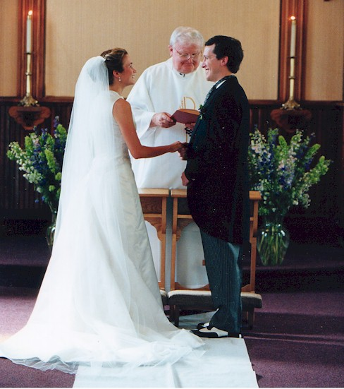 Wedding At The Altar: Bride & Groom At Alter - Copy