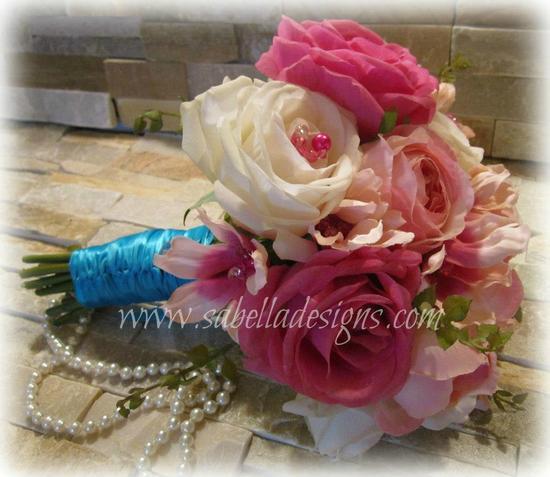 photo of Sabella Designs Faux Flower Wedding Bouquets & Arrangements