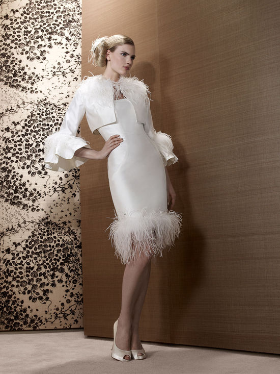 2013 Wedding Dress by French Bridal Designer Elisabeth Barboza kf36