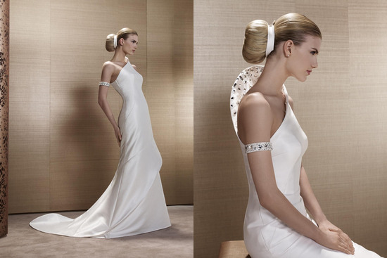 2013 Wedding Dress by French Bridal Designer Elisabeth Barboza kh25