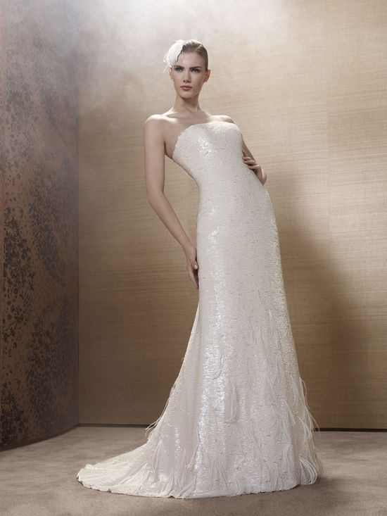 2013 Wedding Dress by French Bridal Designer Elisabeth Barboza k127