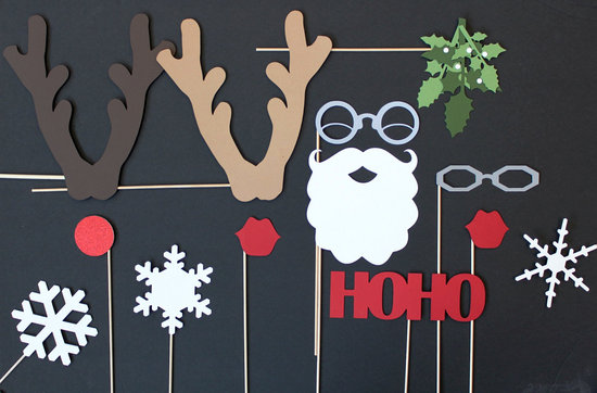 Holiday Wedding Fun Reception Photo Booth Props