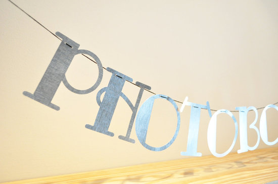 Silver Reception Banner for Wedding Photo Booth