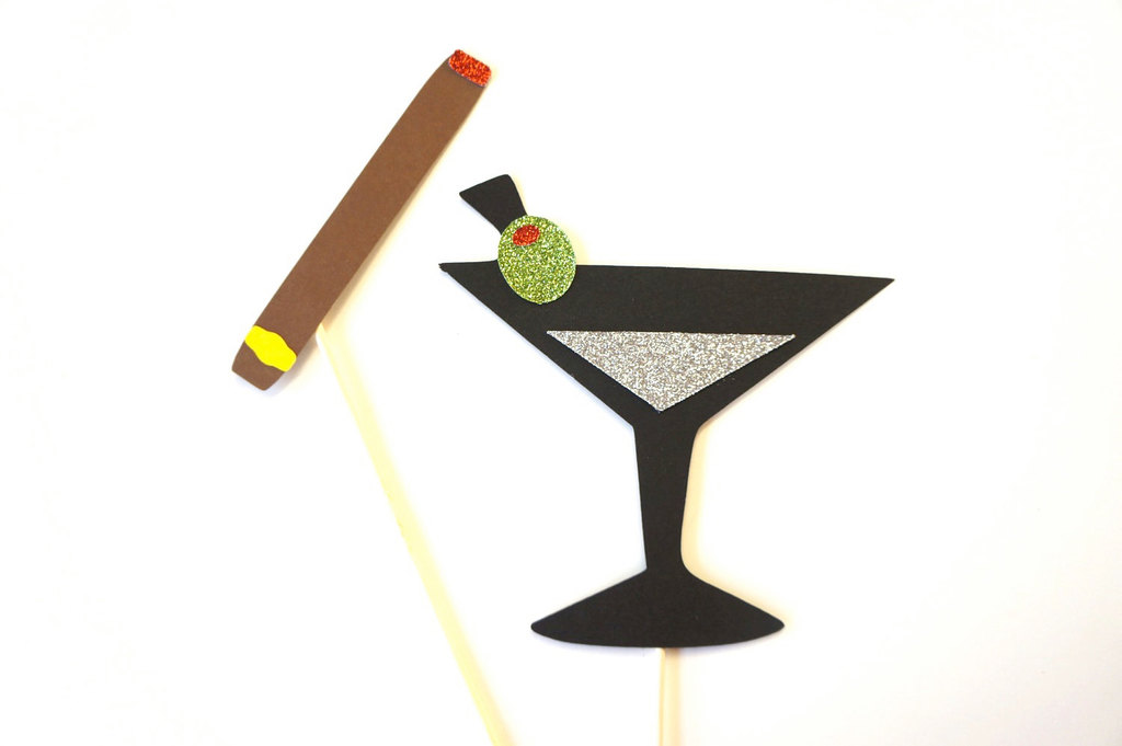 Martini and Cigar Wedding Photo Booth Props
