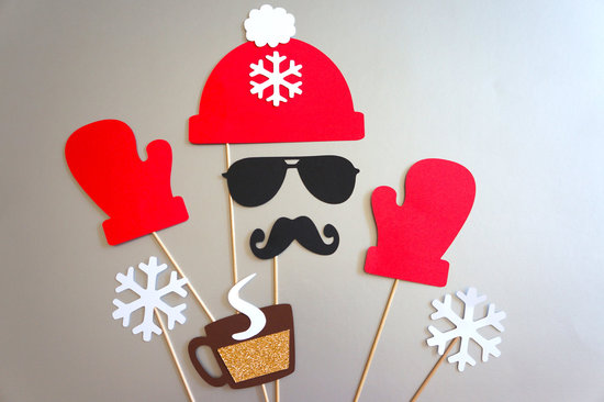 Rockin Santa Wedding Photo Booth Props