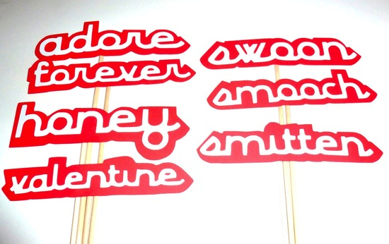 Loving Words Wedding Photobooth Props