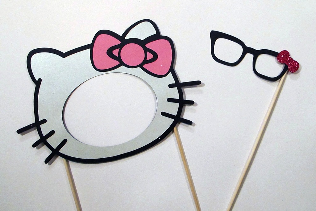 Hello Kitty Wedding Photo Booth Props