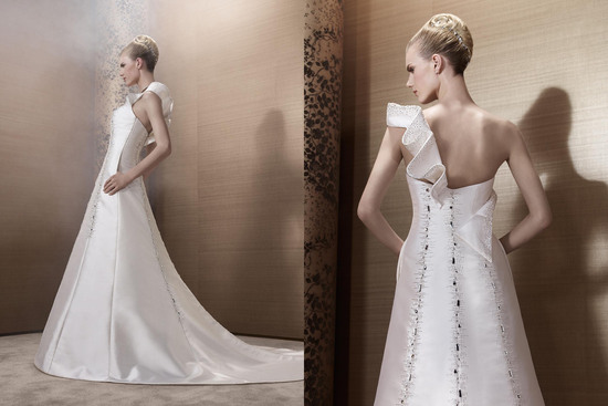 2013 Wedding Dress by French Bridal Designer Elisabeth Barboza kh56