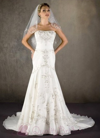2012Mermaid-Strapless-Beaded-Satin-Tulle-Bridal-Dress-W1043