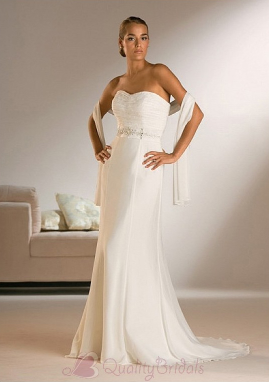 Beautiful-Elegant-Exquisite-Sheath-Sweetheart-Chiffon-Wedding-Dress-In-Great-Handwork-W2228