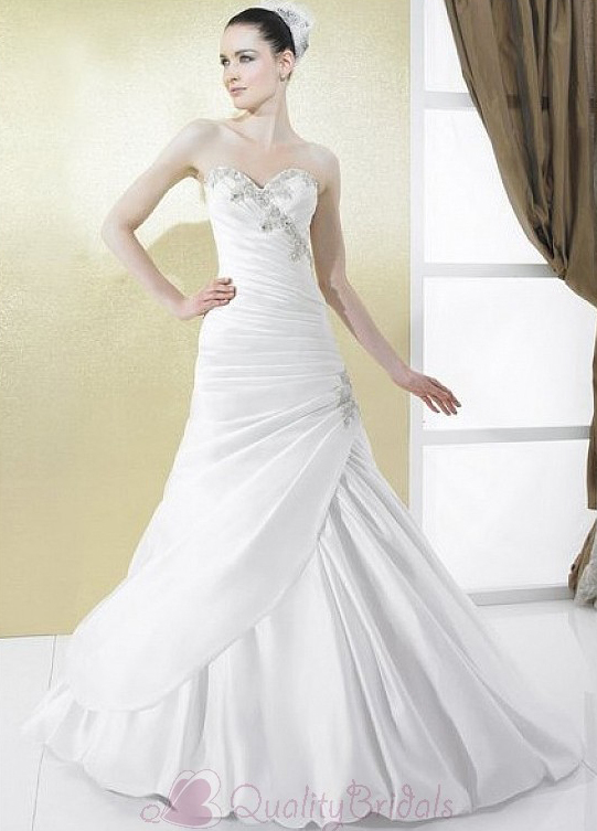 Graceful-satin-princess-strapless-sweetheart-neckline-wedding-dress-with-lace-appliques--beadings-and-manmade-diamonds-w2120.full