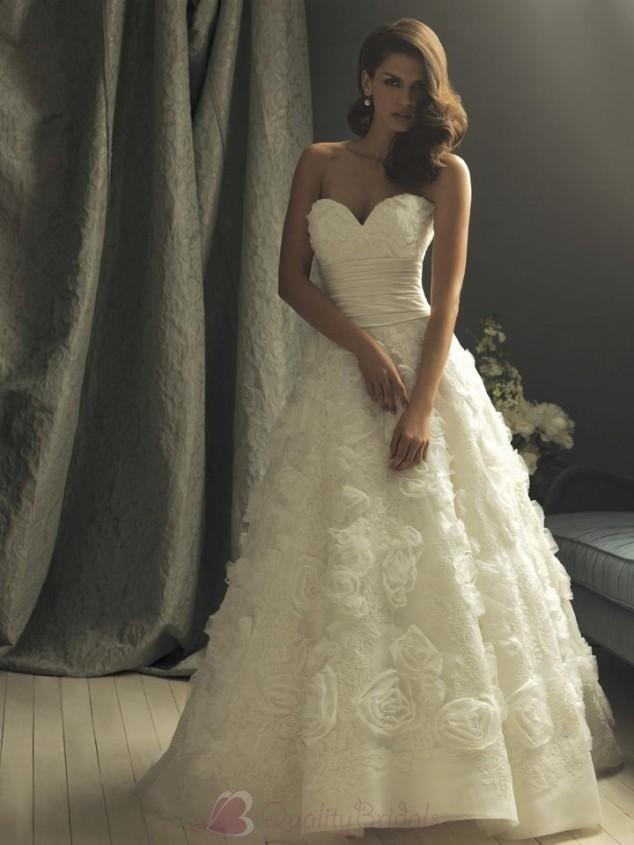 Taffeta-sweetheart-neckline-empire-waist-handmade-flower-appliqued-on-skirt-ball-gown-vintage-wedding-dresses-w1241.full