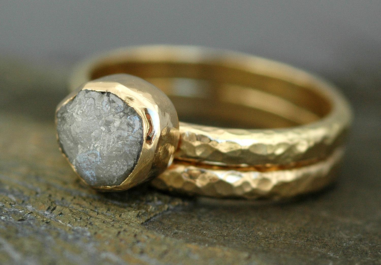 Bezel Set En... Unpolished Diamond