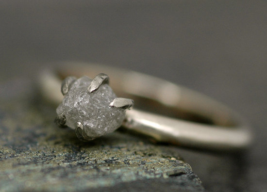 Recycled Rough Diamond Engagement Ring