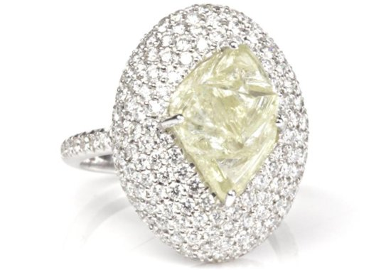 Sparkly Rough Diamond Engagement Ring