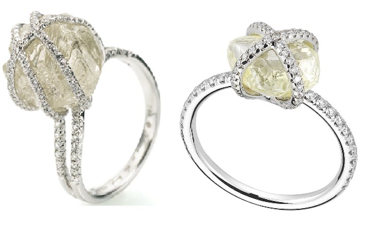 Rough Diamond Engagement Rings