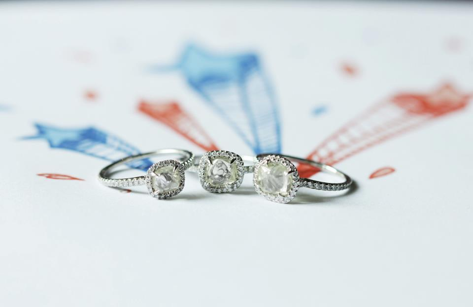 Diamond in the Rough Engagement Rings