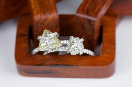 Unique Rough Cut Diamond Engagement Rings Diamonds in the Rough
