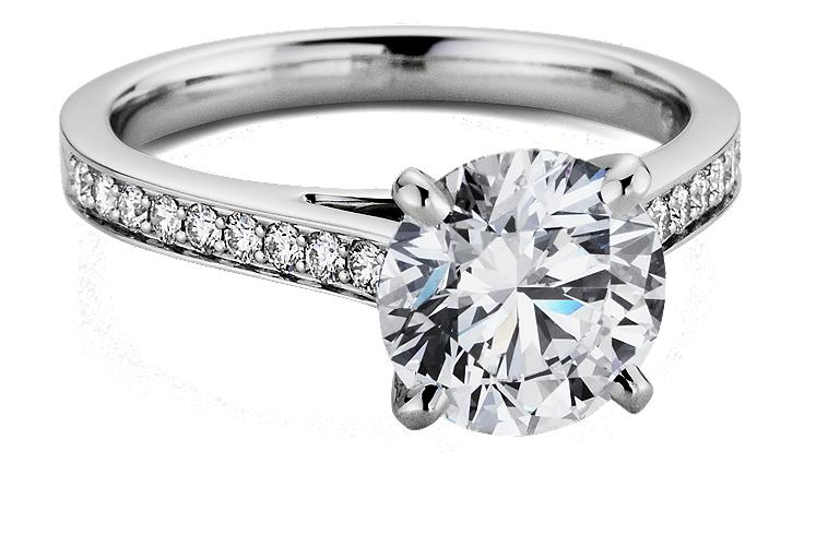 blue nile engagement ring cathedral pave diamond onewedcom