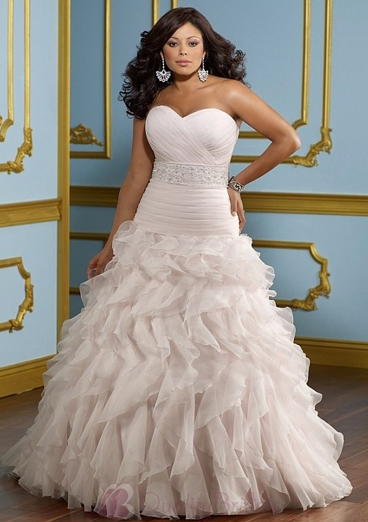 Glamorous-Organza-A-line-Sweetheart-neckline-Plus-Size-Wedding-Dress-W2092