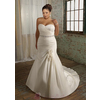 Glamorous-satin-mermaid-sweetheart-neckline-plus-size-wedding-dress-with-beads-and-handmade-flowers-w2062.square