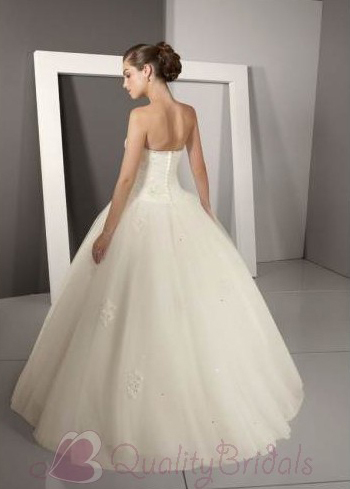 Ivory-Strapless-Crystal-beaded-Satin-Tulle-Ball-Gown-Weddsing-Dress-W1321